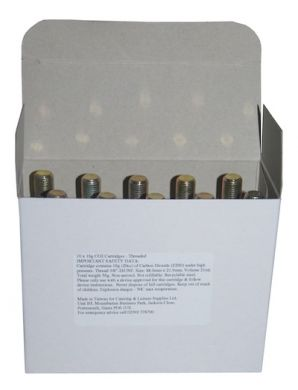 CO2 12g Cartridges - Threaded (Box of 10)