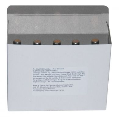 Mosa CO2 16g Non-Threaded Cartridges Case of 200 (40 x Packs