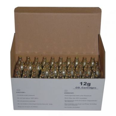 CO2 12g Cartridges - Non-Threaded (Box of 50)