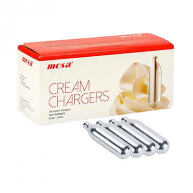 Cream Chargers by Mosa N2O Pack of 4 x 24s (96) Black Infusi