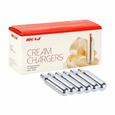 Mosa Cream Chargers - Pack of 6 x 24s (144)