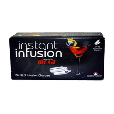 Infusion Mosa Nitrous Oxide - Box of 24 Cream Chargers